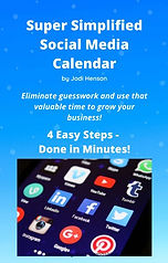 Super Simplified Social Media Calendar book cover
