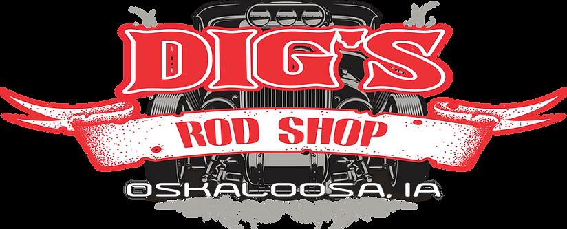 Dig's Rod Shop logo Oskaloosa, Iowa