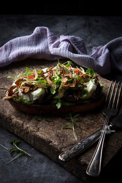 Roeasted Eggplant Sandwich