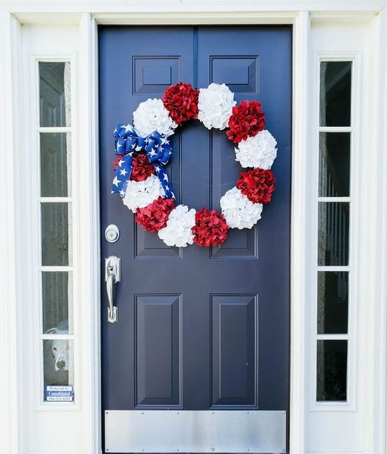 Fourth of July Wreath on Front Door