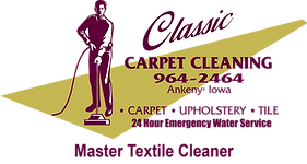 Classic Carpet Cleaning logo Des Moines, Iowa