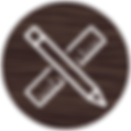 Pencil and ruler design icon