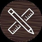 Pencil and ruler design icon