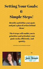 Setting Your Goals: 6 Simple Steps book cover
