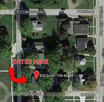 Free Clinics of Iowa Map Entrance Location