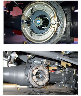 CANYCOM Drum shoe brakes front and rear axle