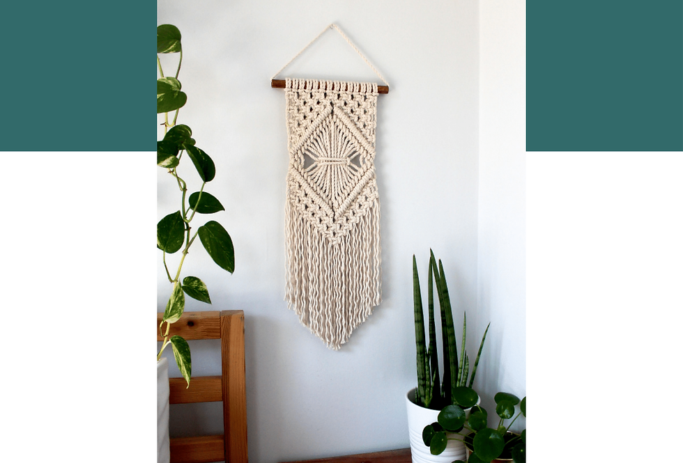 DIY Macrame Wall Hanging Guide (Spanish)