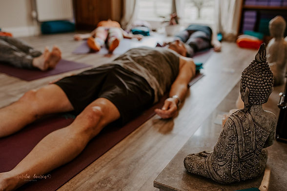 Students in relaxation - Savasana