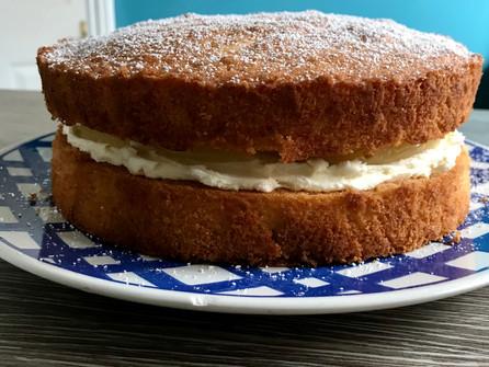 Ann's Delicious Lemon Curd Sponge Cake, Courtesy of Lorraine Pascale