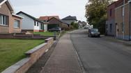 1er octobre 2017, Saint-Trond, Belgique.   Un aperçu d'une rue de la zone de résidences.