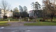 24 novembre 2017, Halikko, Finlande.   Le parc vu depuis le bâtiment d'accueil des demandeurs d'asile.