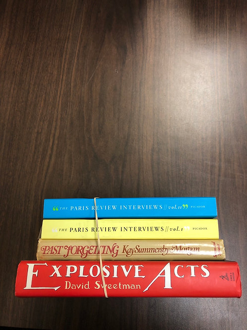 Paris Review Interviews, Explosive Acts, Past Forgetting