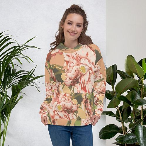 Peach Floral Unisex Hoodie