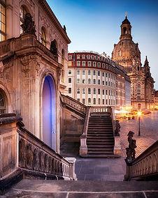 Dresden - The Johanneum in Dresden - View to the Frauenkirche and Neumarkt. Photo: ddpix.de (DML-BY)