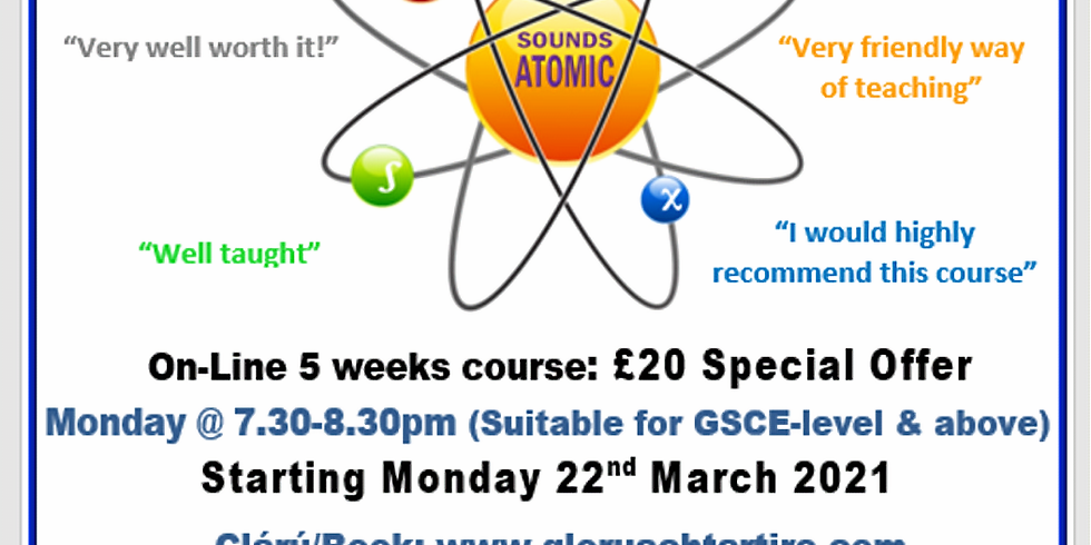 Atomic Irish - Suitable for those with GCSE Irish and higher