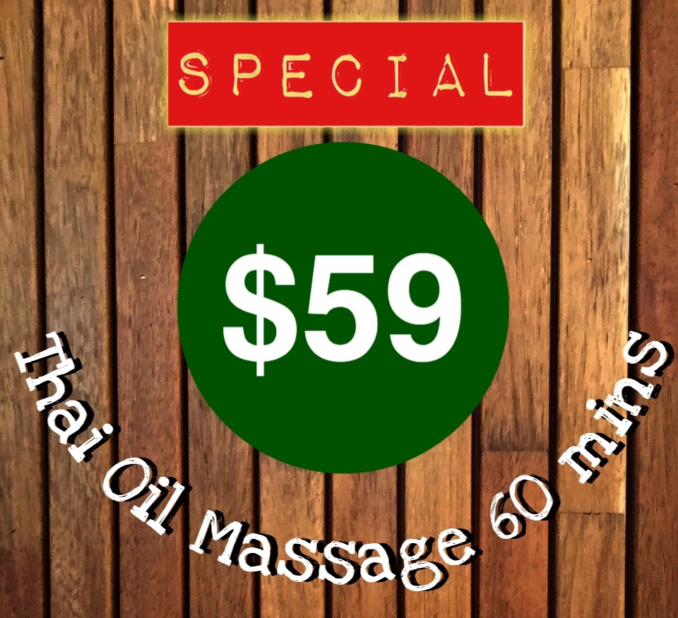 Thai Oil massage $59