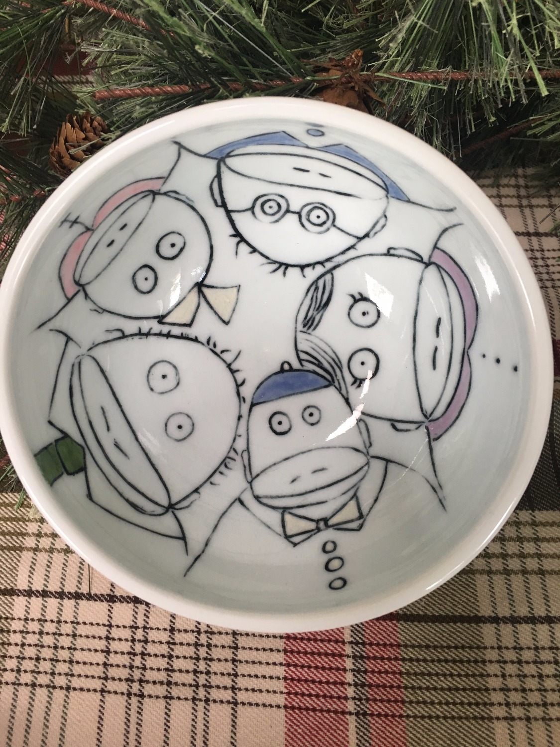 Bowl with Monkeys