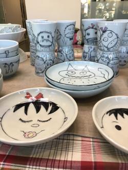 Boy and Girl Plates