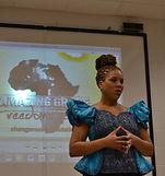 Girl giving presentation
