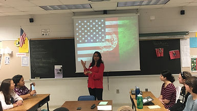 Guest Speaker presenting to class.