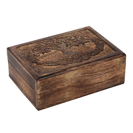 Wooden Tree of Life Box