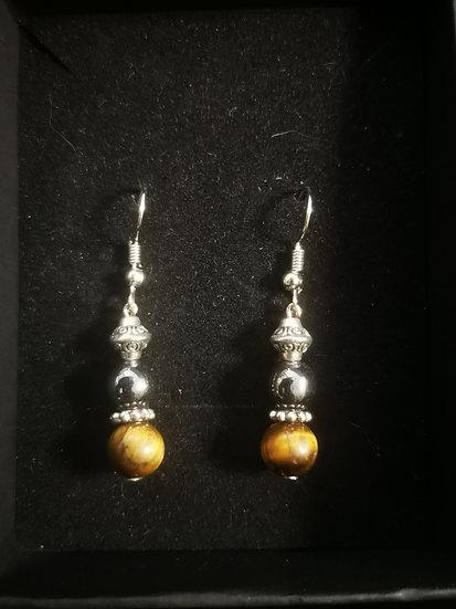 Handmade crystal earrings Tower