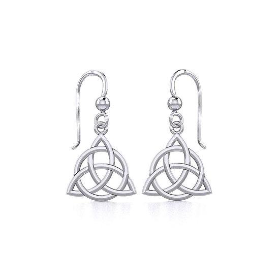 Triqueta Dangle Earrings Sterling Silver