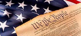US Constitution against stars