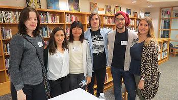 International Speakers in library.