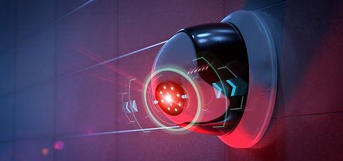 security-camera-targeting-detected-intru
