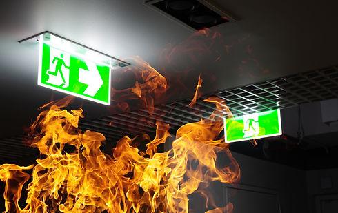 hot-flame-fire-green-fire-escape-sign-ha