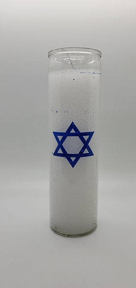 Star Of David 7 Day Candle