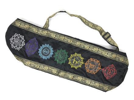 Cotton Bag for Yoga Mat, 7 Chakra