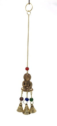 Brass Wind Chime with bells Buddha