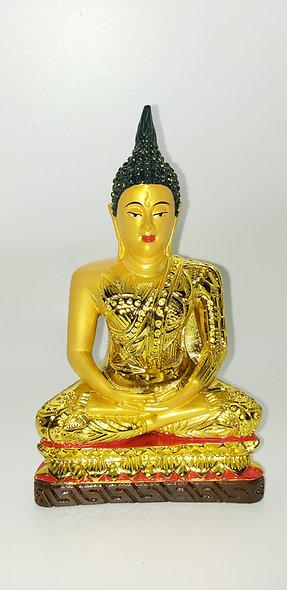 Gold Meditation Buddah Statue