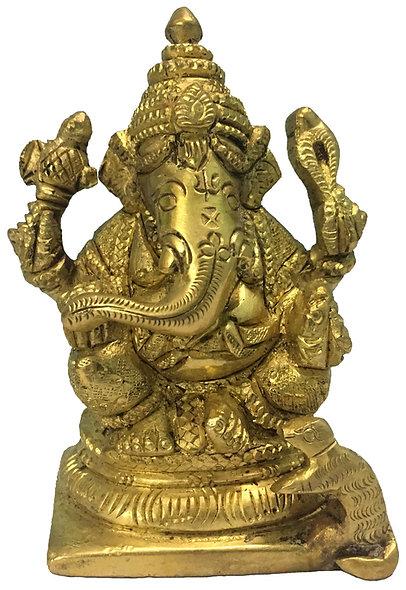 "Brass Ganesha 3.5"""