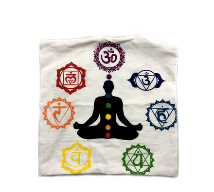 Indian Cushion Cover, 7 Chakra 16 x 16 inch