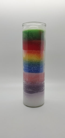Rainbow 7 Day Candle