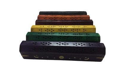 Wooden Colored Coffin Box