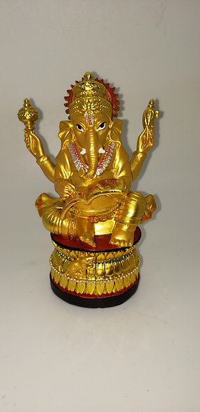 Small Ganesh Gold Statue