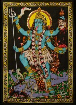 Tapestry Goddess  Kali