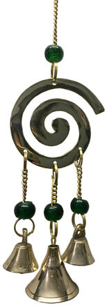 Brass Wind Chime with bells Spiral