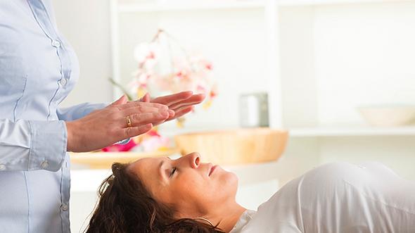 Receiving a Reiki Treatment