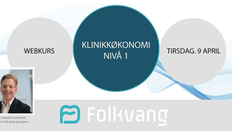 "Webkurs: ""Klinikkøkonomi Nivå 1"""