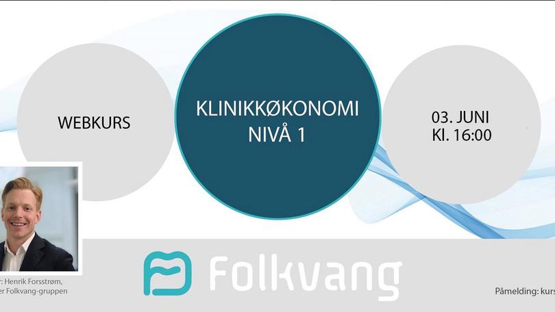 "Nytt Webkurs: ""Klinikkøkonomi Nivå 1"""