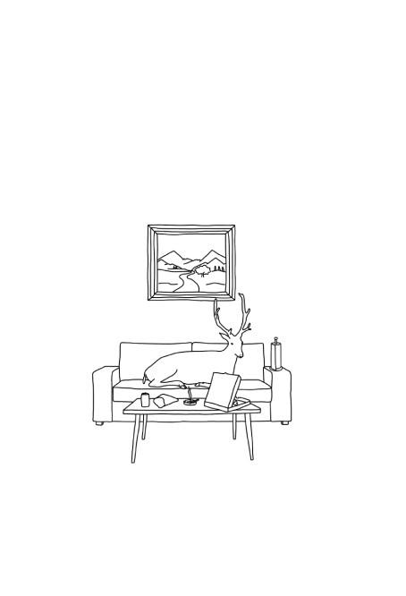 Ilustration - Escena con Ciervo