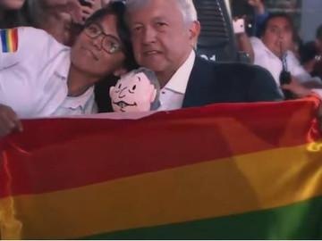 Activistas celebran compromiso de AMLO con la comunidad LGBTTTI
