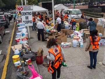 Centros de acopio para ayudar a las víctimas del sismo