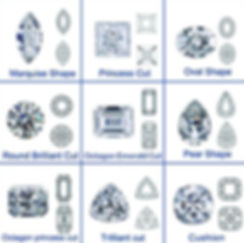 moissanite cut shapes