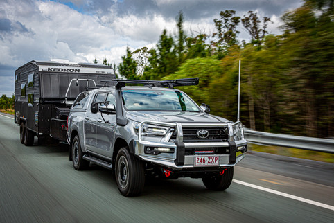 2020 Genuine Accessorised Hilux - towing KEDRON XC5 'SCRUBPAK'® - Highway travel, QLD - Glen Gall©️